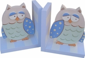 Blue Owl Bookends