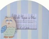 Blue Owl Picture Frame