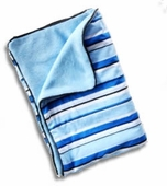 Blue Pinstripe Piped Blanket