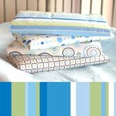 Blue Stripe Changing Pad Cover