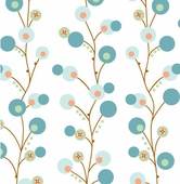 Blue Twiggy Fabric