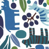 Blue Zoo Fabric