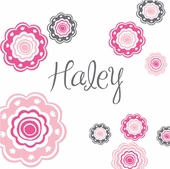 Blushing Blooms Pink Personalized Canvas Wall Art