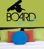 Board Like a Girl Custom Wall Decal