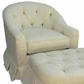Bordeaux Cream Adult Park Avenue Glider Rocker Chair - Foam or Down