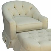 Bordeaux Cream Adult Park Avenue Petite Glider Rocker Chair - Foam or Down