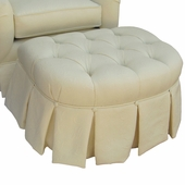 Bordeaux Cream Adult Park Avenue Petite Stationary Ottoman