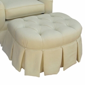 Bordeaux Cream Adult Park Avenue Stationary Ottoman