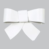 Bow Magnet Set of 3 - White