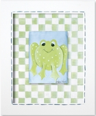 Boy Frog Custom Framed Giclee Print