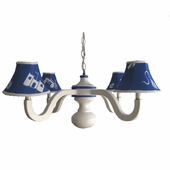 Boys Toys Blue Four Arm Spindle Chandelier