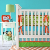 Bright Baby Green Crib Bedding