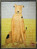 Brown Boy Dog Art Print