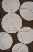 Brown Circles Goa Hand-Tufted Rug
