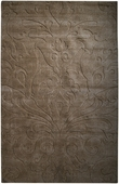Brown Damask Sculpture Loomed Rug
