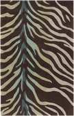 Brown Zebra Cosmopolitan Hand-Tufted Rug