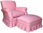 Bubble Gum Pink Adult Club Glider Rocker Chair - Foam or Down