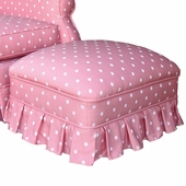 Bubble Gum Pink Adult Club Ottoman - Stationary or Glider