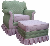 Bubble Gum Pink/Green Adult Empire Glider Rocker Chair - Foam or Down