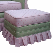 Bubble Gum Pink/Green Adult Empire Ottoman - Stationary or Glider