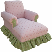 Bubble Gum Pink/Green Child Club Chaise Lounge