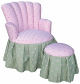 Bubble Gum Pink/Green Child Princess Chair