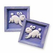 Bunnies Accent Wall Plaque Set