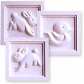 Bunnies & Duck Accent Wall Plaque Set