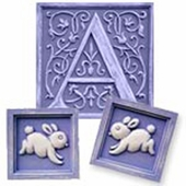 Bunnies Initial & Accent Wall Plaque Set