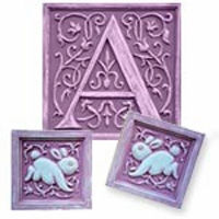 Bunnies & Vines Initial & Accent Wall Plaque Set