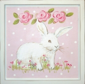 Bunny Facing Right Mounted Deco Art Print
