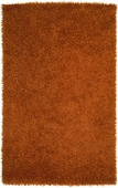 Burnt Orange Vivid Hand-Woven Shag Rug