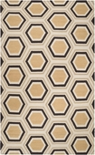 Butter & Black Hexagon Fallon Hand-Woven Rug