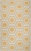 Butter & Light Blue Hexagon Fallon Hand-Woven Rug