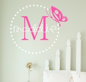 Butterfly Dots Custom Personalized Wall Decal