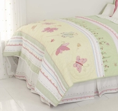 Butterfly Party Ric Rac Bed Skirt