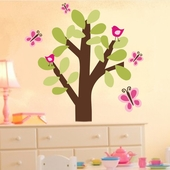 Butterfly Tree Custom Wall Decal