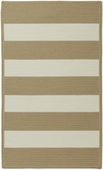 Cabana Stripes Braided Rug - Cream