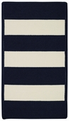 Cabana Stripes Braided Rug - Indigo