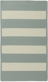 Cabana Stripes Braided Rug - Spa Blue