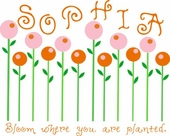 Candy Flowers Custom Personalized Wall Decal