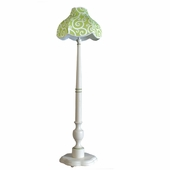 Cartwheel Spring Green Audrey Scalloped Floor Lamp