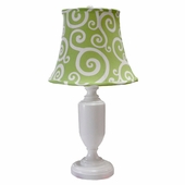 Cartwheel Spring Green Medium Urn Lamp