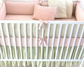 Celery Anouk Plump Crib Bumper with Dusk Trim