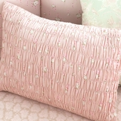 Celery Anouk Smocked Decorative Boudoir Pillow in Dawn Estelle