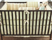 Celery Gustave Plump Crib Bumper with Celery Trim