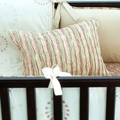 Celery Marcel Smocked Decorative Boudoir Pillow in Asparagus Chloe