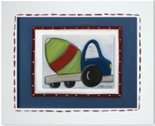 Cement Mixer Custom Framed Giclee Print