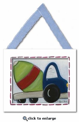 Cement Mixer Framed Giclee Print