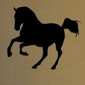 Chalkboard Horse Wall Decal
